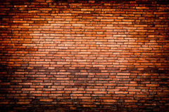 Brick weathered stained old brick wall background red brick wall Royalty Free Stock Image