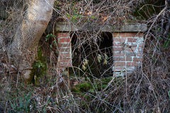 Brick well cover Royalty Free Stock Images