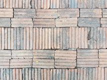 BRICK WELL HORIZONTAL. Brick striped horizontal floor soil bakedclay royalty free stock images