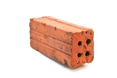 Brick. A brick on a white background Royalty Free Stock Image