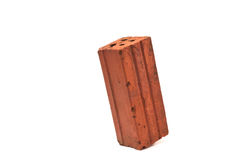Brick. A brick on a white background Royalty Free Stock Images