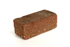 A brick on white background royalty free stock image