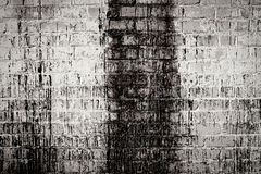 Brick white dirty wall background Royalty Free Stock Image