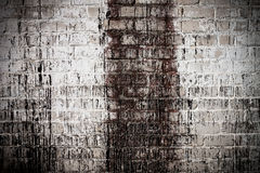 Brick white dirty wall background Royalty Free Stock Photo