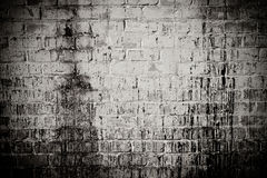 Brick white dirty wall background Royalty Free Stock Photos
