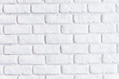 Brick white wall Stock Photo