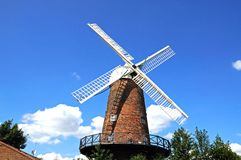 Brick windmill, Nottingham. Windmill in the Sneinton district, Nottingham, Nottinghamshire, England, UK, Western Europe Royalty Free Stock Photography