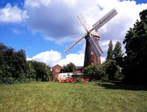 Brick windmill, Woodbridge, Suffolk. Royalty Free Stock Photography