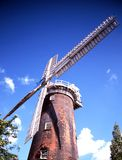 Brick windmill, Woodbridge, Suffolk. Royalty Free Stock Photos
