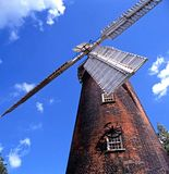 Brick windmill, Woodbridge, Suffolk. Royalty Free Stock Image