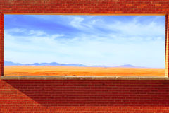 Brick Window Royalty Free Stock Images