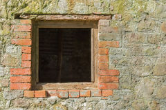 Brick window background Stock Photos