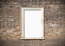 Brick window frame Royalty Free Stock Images