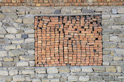Brick window Stock Photo