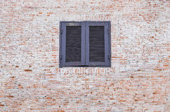 Brick window Royalty Free Stock Images