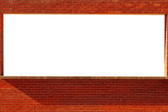 Brick window for Text Royalty Free Stock Photo