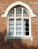 Brick window2. Brick window of an old court house on English design Stock Images
