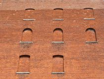 Brick windows Stock Photos
