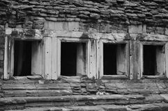Brick windows. Stock Photos