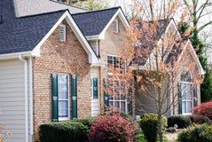 Brick and Wood Home royalty free stock photos