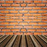 Brick and wood a texture wallpaper Stock Photos