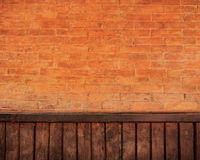 Brick and wood wall Stock Image