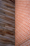 Brick and wooden walls Royalty Free Stock Images
