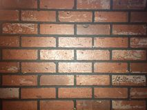 Brick work with a flash. Indoor brick work with a flash Royalty Free Stock Photos