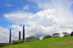 Brick works chimneys at Sydney Park Royalty Free Stock Images