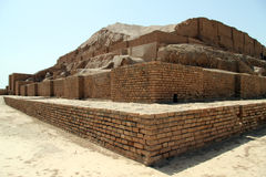 Brick ziggurat Stock Images