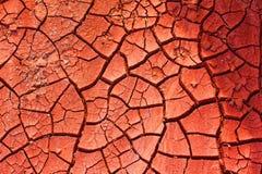 Brickearth rosso essiccato Fotografia Stock