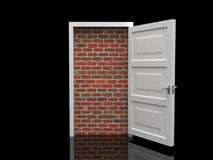 bricked дверь иллюстрация штока