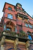 红色bricked房子 库存照片