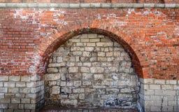 Bricked acima do arco da entrada Fotografia de Stock