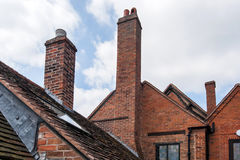 Bricked chimneys Stock Photos