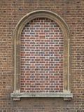 Bricked dans la fenêtre arquée Photographie stock libre de droits
