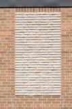 Bricked-en ventana Imágenes de archivo libres de regalías