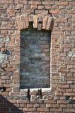 Bricked encima de la ventana Foto de archivo