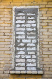 bricked fönster arkivbilder
