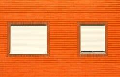 bricked facadehus arkivbild