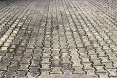 Bricked floor in a rural town Royalty Free Stock Photography