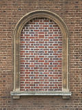 Bricked in gewölbtem Fenster Lizenzfreie Stockfotografie