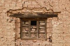 Bricked herauf Fenster mit einem Loch Lizenzfreies Stockbild