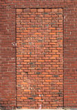 Bricked herauf Tür Stockbild