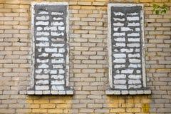 Bricked okno zdjęcie stock