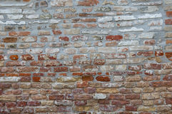 Bricked old wall in Venice Stock Photography