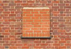 Bricked op Venster stock afbeelding