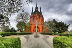 Bricked Postorna cathedral Royalty Free Stock Photography