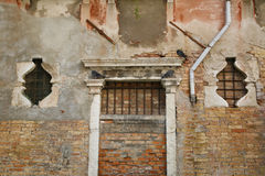 Bricked sull'entrata Fotografie Stock