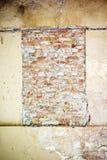 Bricked sulla finestra Fotografie Stock